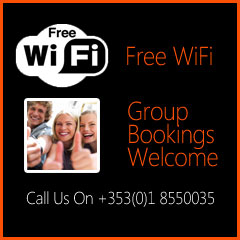 Free WiFi & Group Bookings Welcome